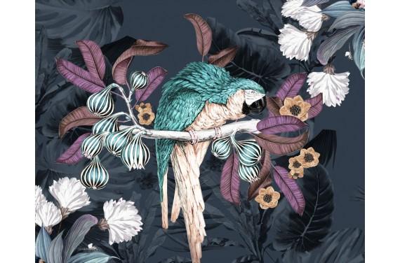 Panel for the bag - Jungle-Parrots - 50x40 cm
