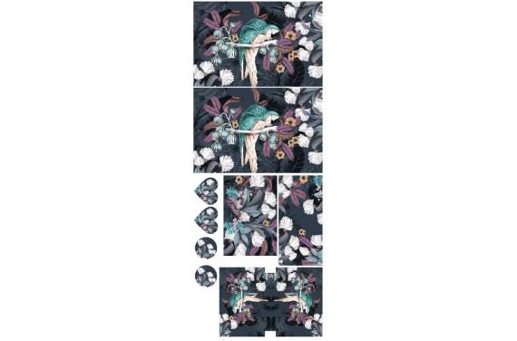 Jungle parrots 1-- Set für eine Tasche