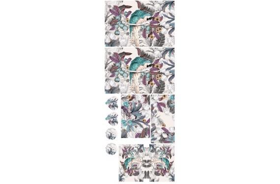 Jungle parrots 3-- Set für eine Tasche