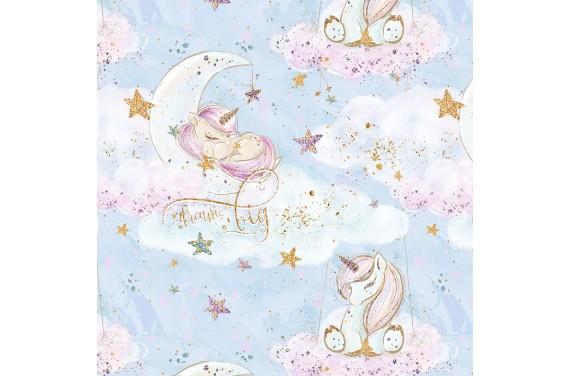 "Fabric ""Baby unicorn 14"""