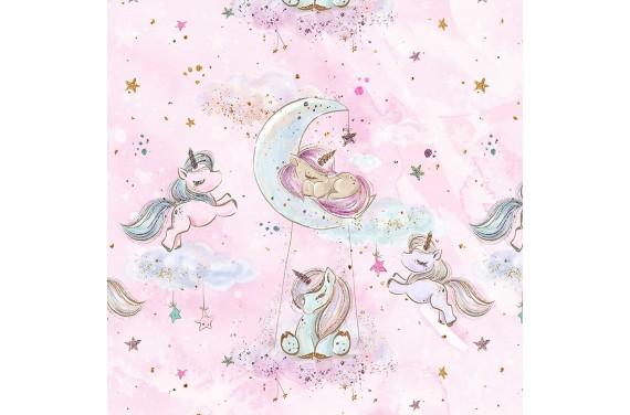 "Fabric ""Baby unicorn 1"""