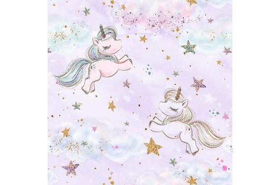 "Fabric ""Baby unicorn 4"""