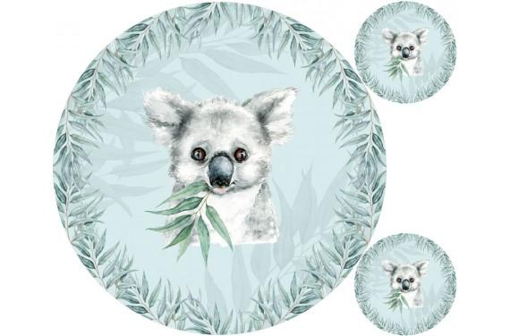 """Mat """"Koala 1 boy"""" + FREE pillow"""