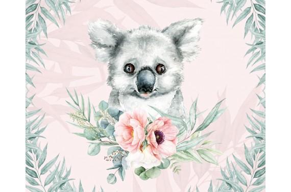 "Panel na torbę ""Koala 2 girl"" - 50x40"
