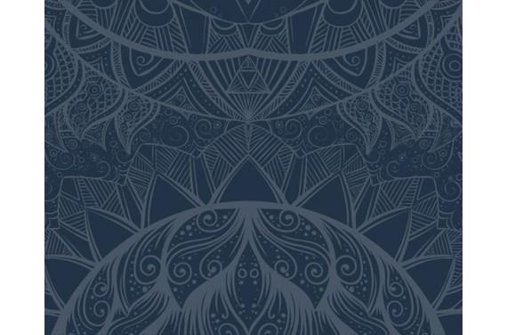 Panel na torbę - Colourful owl dark tył - 50x40
