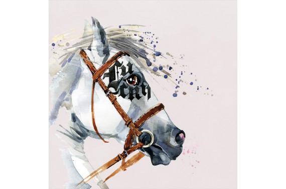 Panel für die Tasche -  Dressage horse girl- 50x50