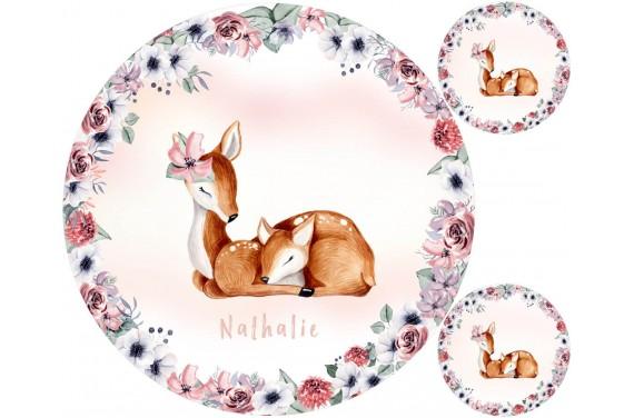 """Mat """"Lovely deer"""" + FREE pillow"""