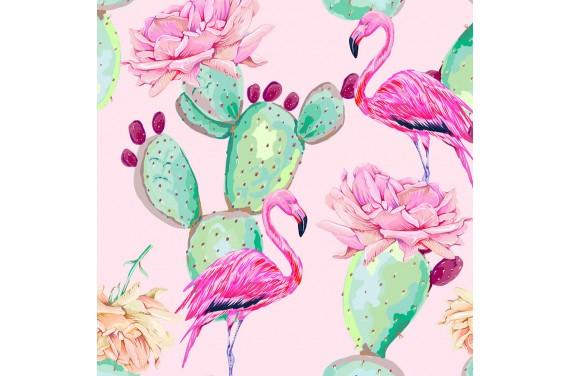 Cactus & flamingo 1