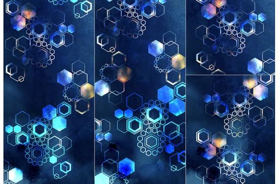 Panel for sleeping bag - Geometric-abstraction