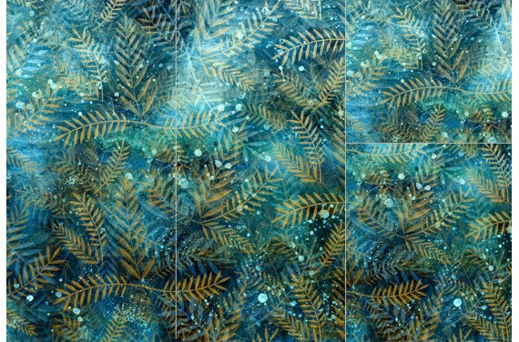 Полиэстер -Winter leafs
