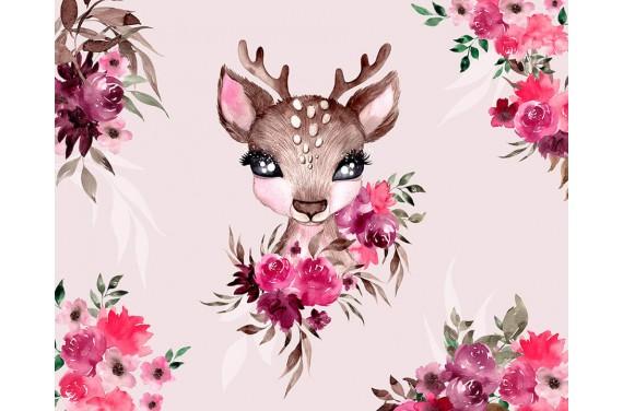 """Panel für die Tasche - """"Little Forest Deer 2"""" - 50x40 cm"""