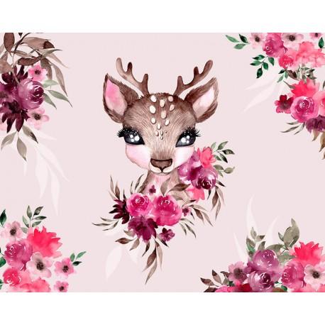 "Panel for the bag - ""Little Forest Deer 2"" - 50x40 cm"