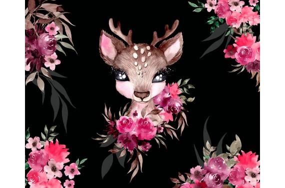 """Panel für die Tasche - """"Little Forest Deer"""" - 50x40 cm"""