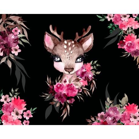 "Panel for the bag - ""Little Forest Deer"" - 50x40 cm"