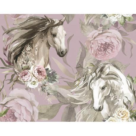 Horse & flowers 1
