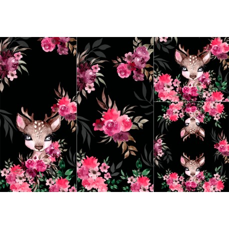 Panel for sleeping bag - Little forest deer