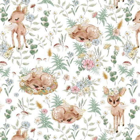 Deer and flowers 3