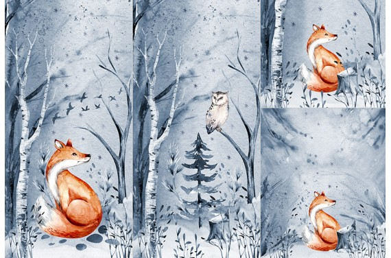 Panel for sleeping bag - Winter forest 1