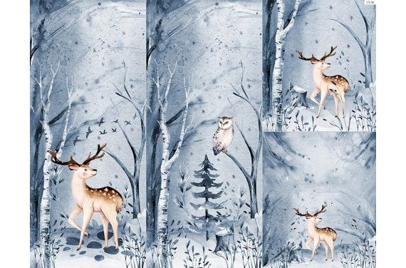 Panel na śpiworek - Winter forest 2
