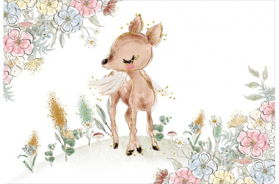 Deer and flowers 1