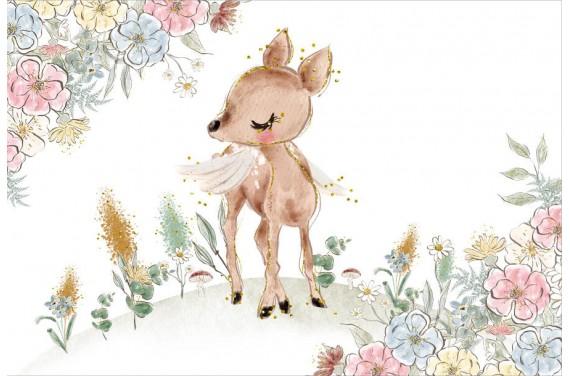 Deer and flowers 1