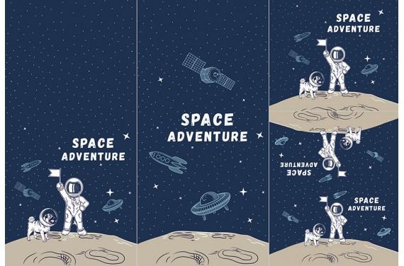 Panel na śpiworek - Space adventure 1