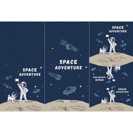 Panel for sleeping bag - Space adventure 1