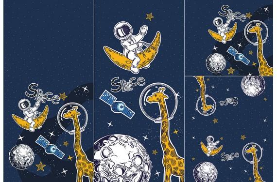 Panel for sleeping bag - Space adventure 2