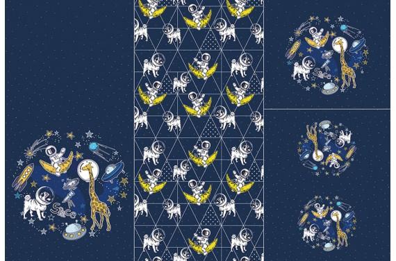 Panel for sleeping bag - Space adventure 3