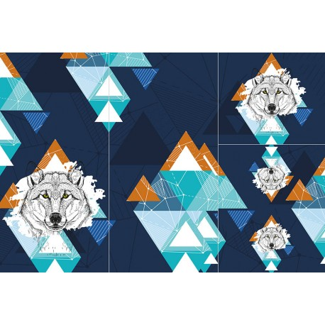 Panel for sleeping bag - Wild animals 1 BOY