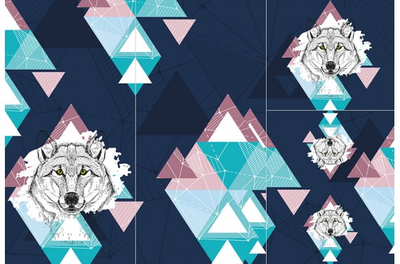 Panel for sleeping bag - Wild animals 1 GIRL