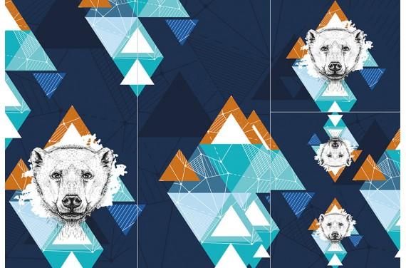 Panel for sleeping bag - Wild animals 2 BOY