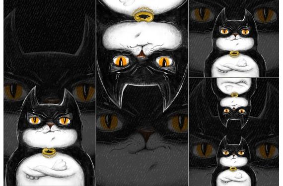 Panel na śpiworek - Bat-cat
