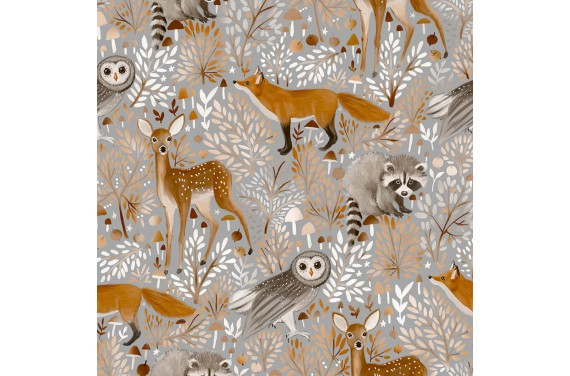 Grey forest animals