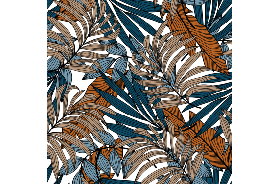 Abstract hawaiian plants