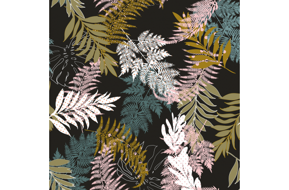 Forest leaves with dots