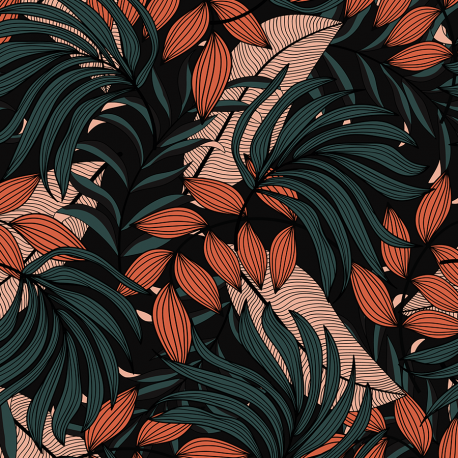 Trendy tropical leaves