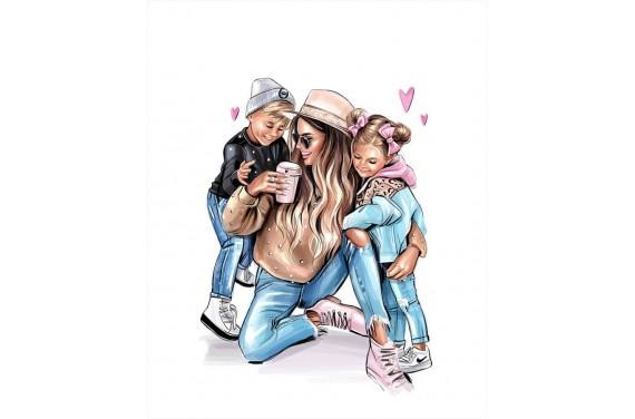 Mom & kids 6