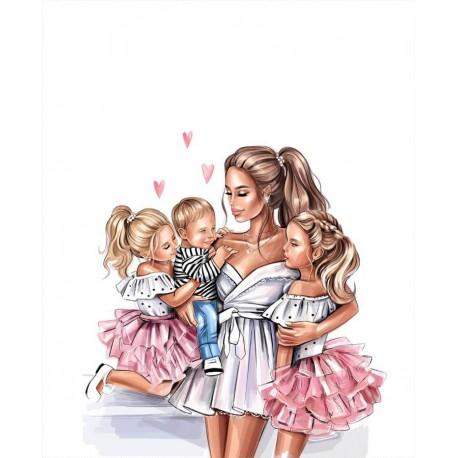 Mom & kids 4