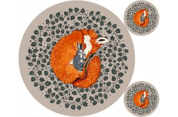 """Mat """"Fox & Rabbit """""""