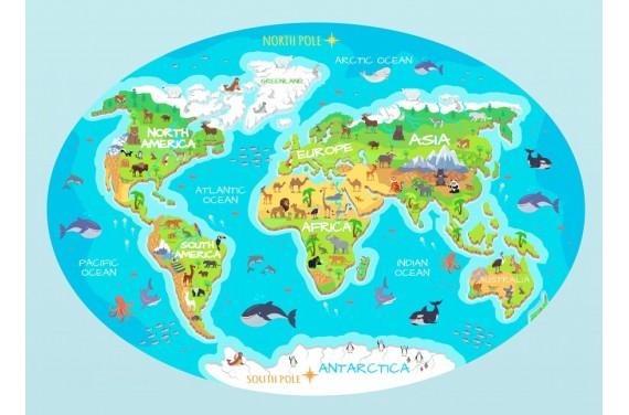 Карта мира (английский) мат/ковер