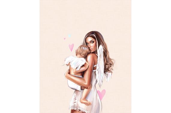 Mom & kids 12