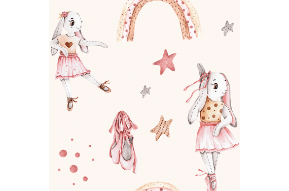 Bunny balerina- beige