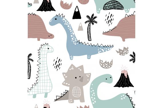 Dinozaury tkanina/dzianina