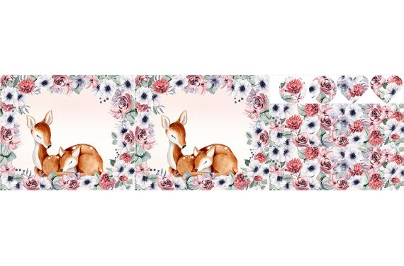 Lovely deer - zestaw na torbę