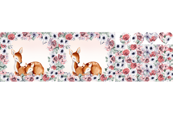 Romatic pink flowers-  набор сумок