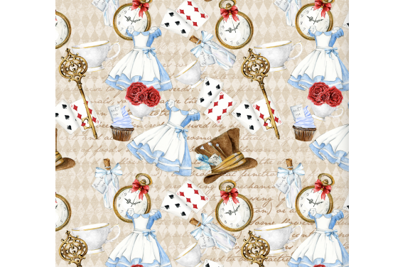 Alicja w krainie czarów 13 tkanina