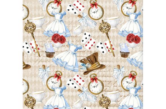 Алиса в стране чудес 13 ткань