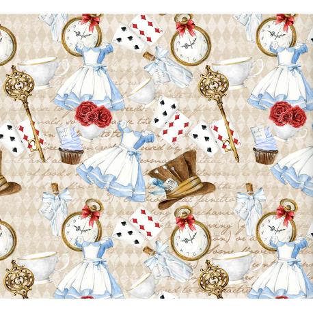 "Fabric ""Alice in Wonderland 13"""