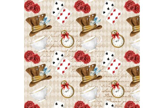 Алиса в стране чудес 7 ткань